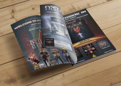 Helsidesannonser i Sweden Rock Magazine